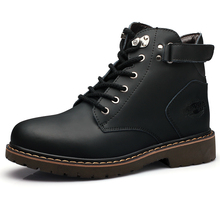 Men Shoes Genuine Leather Men Boots Classic Men s Winter Snow Boots Outdoor Work Shoes Rubber