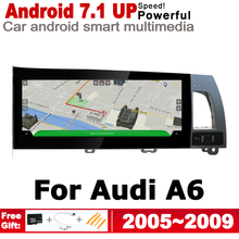 цена на Car Android Radio GPS Multimedia Player For Audi A6 4F 2005~2009 MMI original style Navigation WiFi BT HD Touch Screen stereo