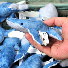 4 10cm mini humpback whale plush stuffed cat toy fish