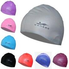New 2016 Elastic Silicone Gel Waterproof Adults Children Kids Swim Pool Sports Swimming Cap Hat for Men Ladies Women Boys Girls