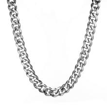 Granny Chic Custom ANY Length 10/12/15/19mm Curb Cuban Mens Chain Boys Stainless Steel Necklace or Bracelet Fashion Jewelry