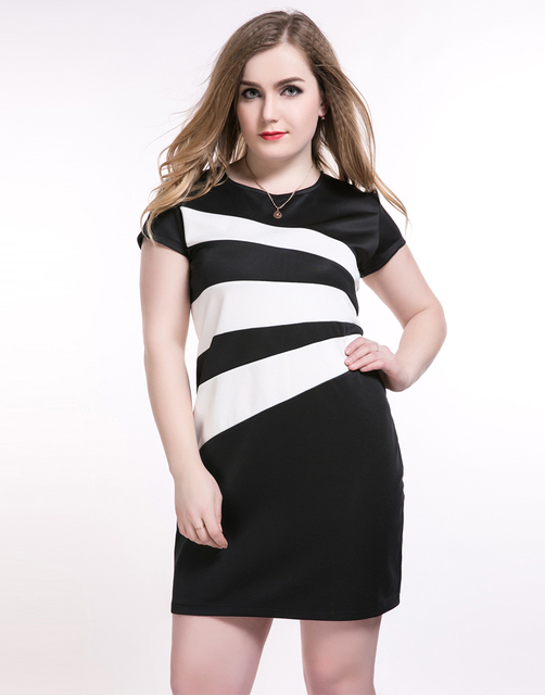Plus Size 6XL Women Bodycon Dresses Summer 5XL Sheath Dress Big Size Female  Clothes 4XL Large 193b32cfb5ba