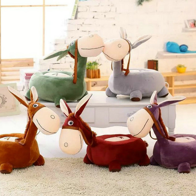 Drop shipping donkey plush toy cartoon cushion chair plush baby seat children sofa creative birthday gift baby cushion 1pcs 52 26cm creative novelty item funny women big mouth shape cushion pink red lip plush toy throw pillow for couch pregnancy