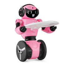 Original WLtoys F4 ABS WIFI Camera Intelligent Balance RC Robot Toys 350g Pink White for Kids gift