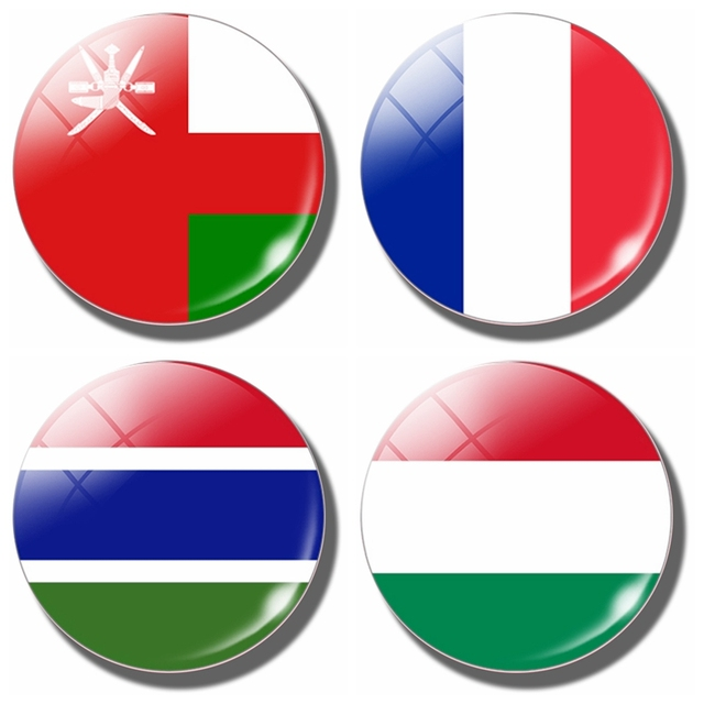 Oman flag 30 mm fridge magnet oman hungary gambia french flag glass dome magnetic refrigerator stickers