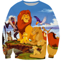 Harajuku cartoon 3d The Lion King comic Simba sweatshirt jumper sweatshirt hoodies pullovers outerwear