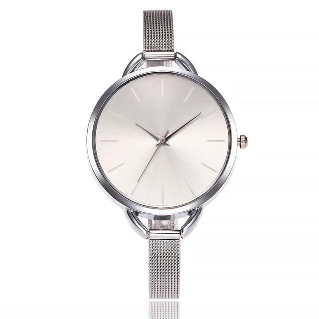 2018 Vansvar Luxury European Style Ladies Watches Stainless Steel Elegant Big Dial Women Watch Casual Dress Female wristwatch cl