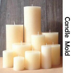 Стерео цилиндрическая форма для свечей, европейские свадебные украшения, круглые силиконовые формы для свечей ручной работы