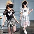 Детские наборы 2 ШТ. Детские Девушки Топ Футболка платье Туту Pettiskirt Платье Birthday Party одежда наборы