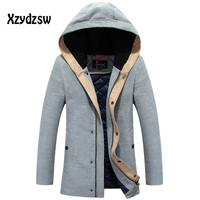 Winter Jacket Men New arrival 2016 Fashion Hot Warm Thick Mens Coats Hooded Brand Cotton padded jackets Travel Brand Clothing