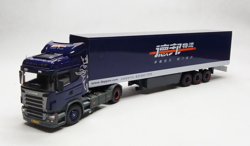 Collectible Alloy Model 1:50 Scale Scania R480 Highline Delivery Container Truck Tractor Diecast Toy Model For Decoration,Gift