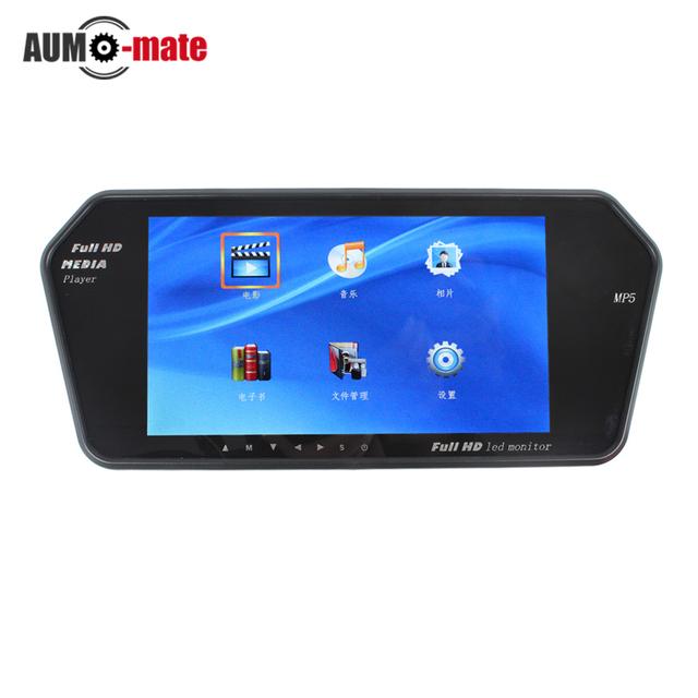 7 ''TFT LCD Monitor Del Espejo Retrovisor Del Coche MP5 Vehículo Auto Aparcamiento Retrovisor Monitor SD/USB MP5 Para Cámara de marcha atrás