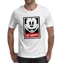 Be A Happy Mouse Everyday T Shirt Cartoon Style Hip Hop Pop T-shirt Creative Novelty Funny Unisex Tee