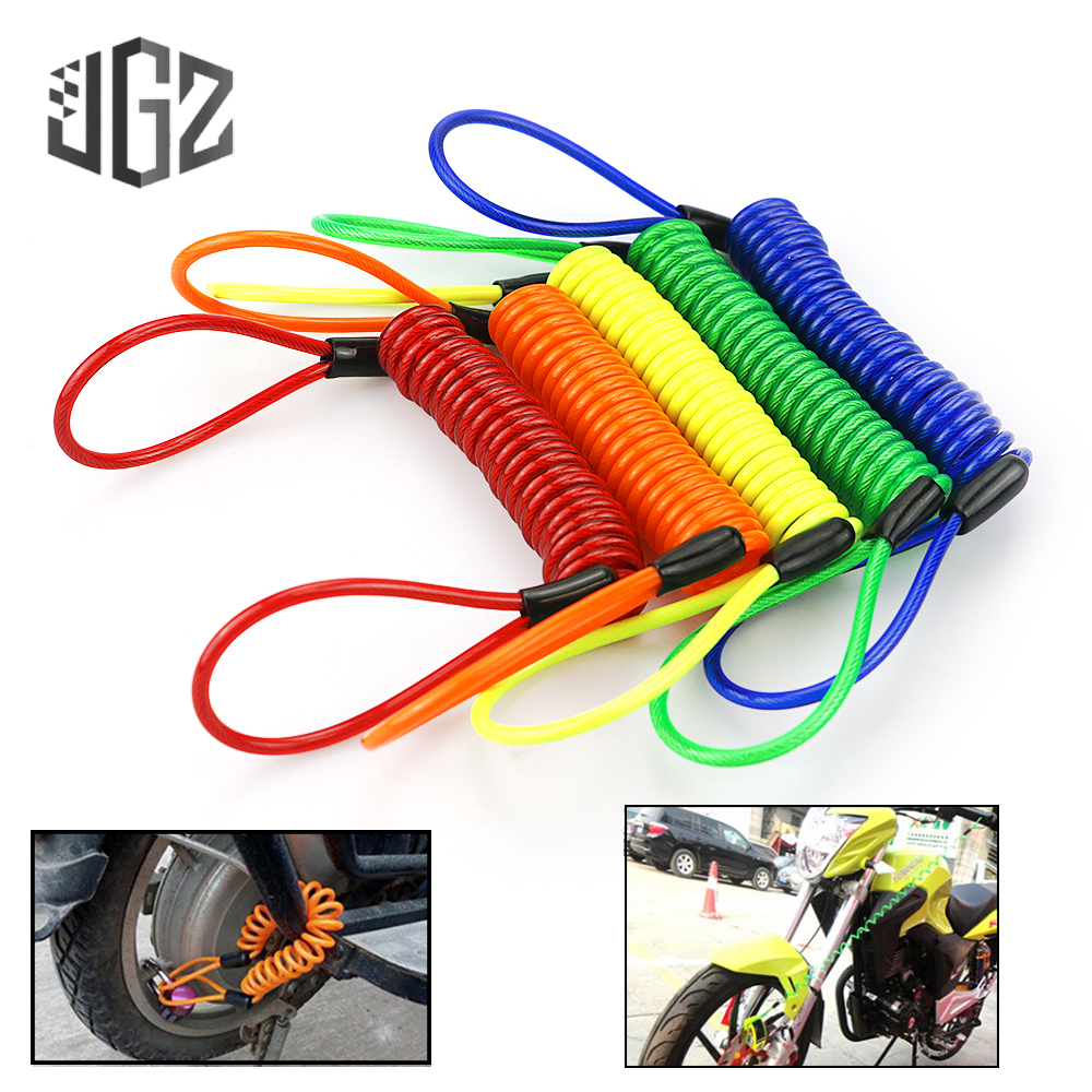 1pcs Bicycle Lock Rope Cable Wire Anti-theft Motorbike Disc Lock Security Reminder Motorcycle Elastic Safety Parts Accessories