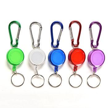 1 sztuk kolorowy pasek karabinek karty etykiety chowany Metal karty pokrowiec na karty losowy kolor tanie i dobre opinie JETTING Z tworzywa sztucznego Unisex CN (pochodzenie) Stałe Card Clip Key Chain STRING moda W kształcie beczki 15kg KARTA KREDYTOWA