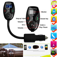New Bluetooth Handsfree FM Transmitter Car Kit MP3 Music Player Radio Adapter With Remote Control For