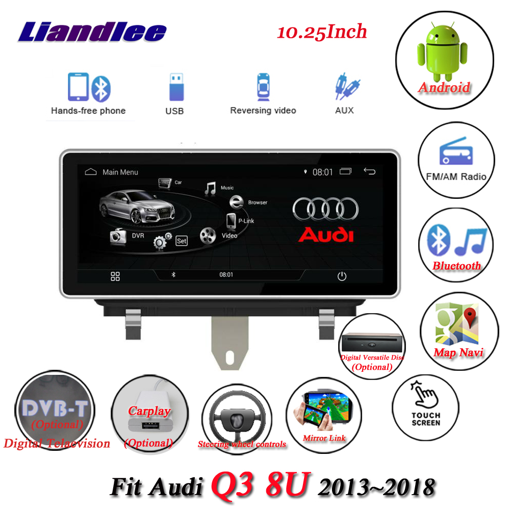 Liandlee Car Android System For Audi Q3 8U 2013~2018 With AUX Radio TV BT CD DVD Player GPS Navi Navigation BT Screen Multimedia 7 android 4 2 capacitive screen car dvd player w ips gps rds wifi radio aux bt for audi a3