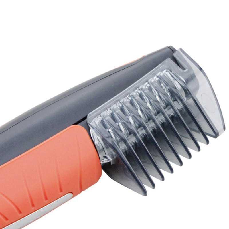 Led ライト多機能鼻毛トリマー男性眉毛、もみあげ耳脱毛散髪機 4 櫛