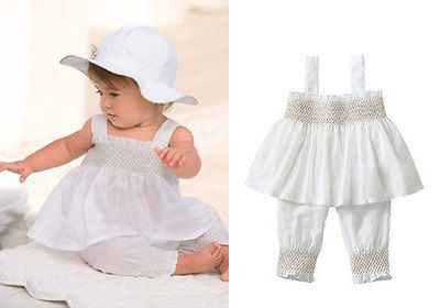 Pcs princess baby kids girls tops sleeveless white colors
