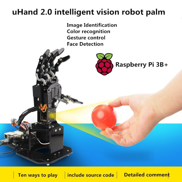 US $328 89 |uHand2 0 open source robot palm robot finger Visual  somatosensory recognition Raspberry Pi Python programming-in Parts &  Accessories from