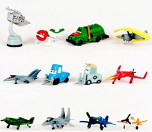 TraVelMall12Pcs Story Airplane Dusty Planes 2 Miniature Air Plane 4-6cm PVC Action Figures Toy Doll Figures Toys kids gift