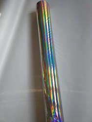 Равнина голографической фольгой серебристого цвета радуги свет бесшовные горячий пресс-на бумажных или пластиковых 64 см х 120 м штамповки