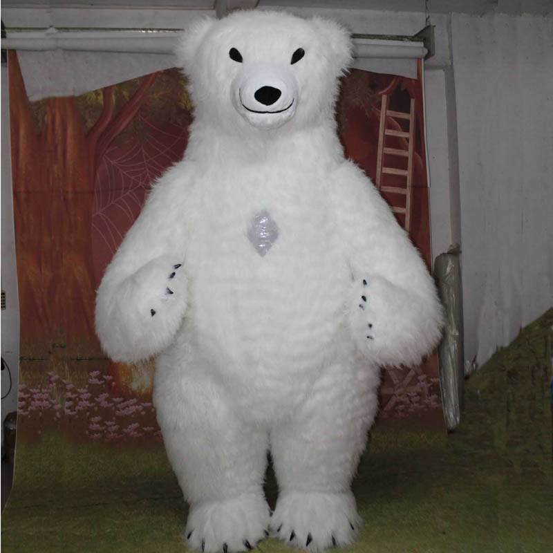 Mascot Polar Bear Inflatable Costume 2M Tall for Advertising Customize Adult Suitable For Mascot Costume Animal Costume