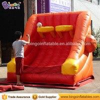 Бесплатная доставка 3X2X2,4 м надувные Баскетбол съемки игры для детей на открытом воздухе игрушки смешно взорвать Баскетбол игры для продвиж