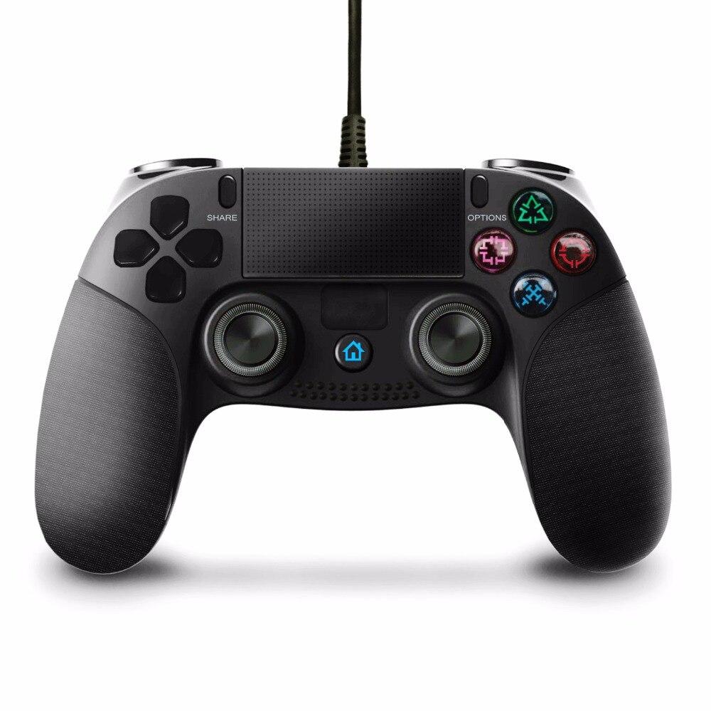 Pour PS4 Contrôleur 2.2 M Filaire Gamepad pour Playstation 4 Dualshock 4 Joystick Gamepads Multiples Vibrations 6 Axies pour PS4 pour PC