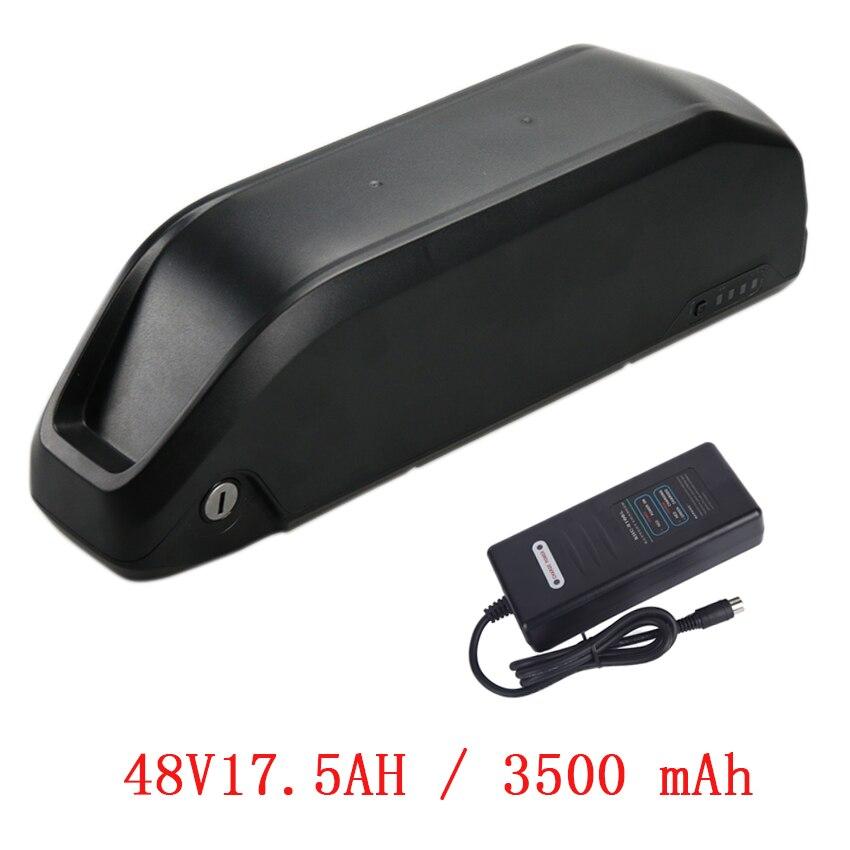 Polly 48V17. 5AH 3500 MAH batterie li-ion pour kit vélo électrique Ebike 48 V Batterie pour BBS02/BBSHD moteur bafang avec 2A Chargeur