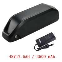 Polly 48V17.5AH 3500MAH Li ion Battery for Electric Bicycle Kit Ebike 48V Battery for BBS02/BBSHD Bafang Motor with 2A Charger
