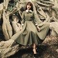 Moda estilo preppy vintage dress para mulheres elegantes vestidos longos maxi vestidos da american apparel casual fladas