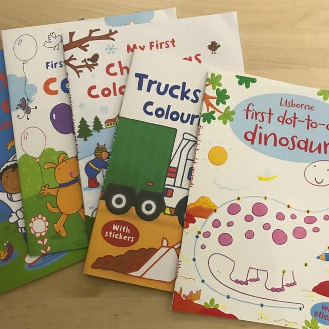 391 Hermosa Etiqueta Libros Escena Dibujo De Dibujos Animados Pegatinas Libros De Inglés Para Niños Para Colorear Libros Con Pegatinas Regalos