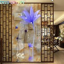 Full Diamond Embroidery Water Flower Dandelion Diy Painting Aesthetic Chinese Style Decorative For Living Room