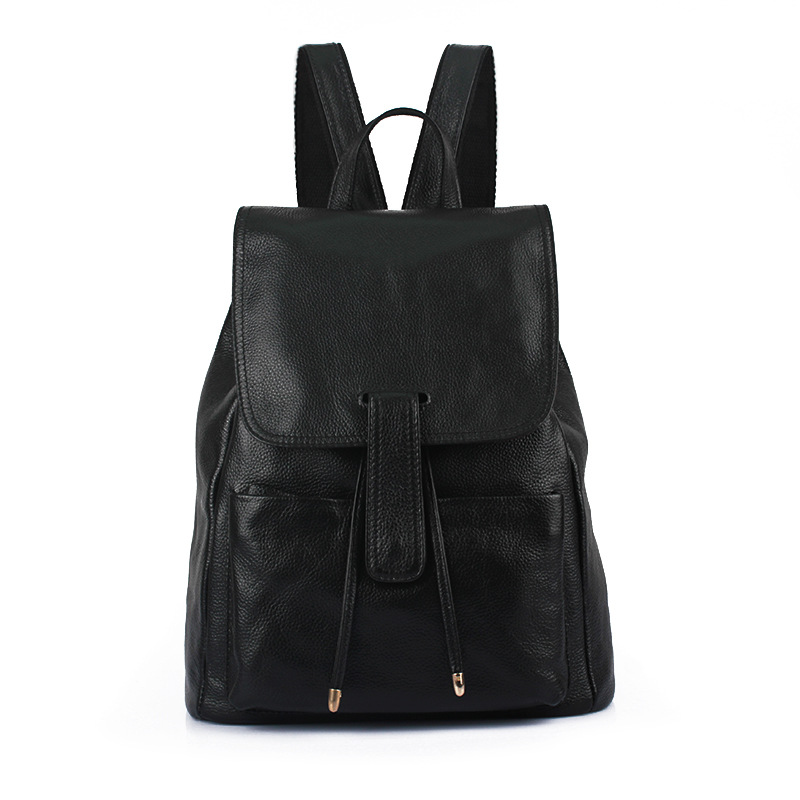 Fashion Women's Backpack High Quality Youth Genuine leather Backpacks for Teenage Casual multi-function Women black Backpacks