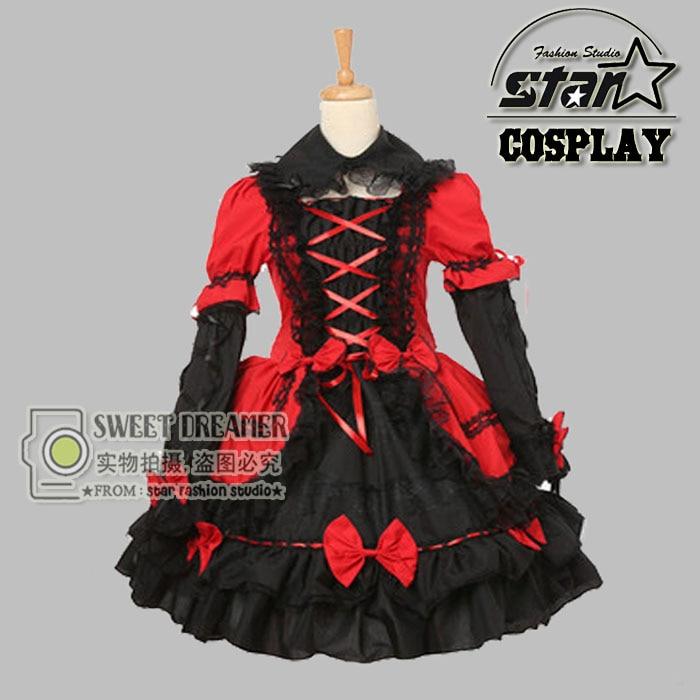 Children Girls Luxury Medieval Dress Cute Baby Red Heart Queen Cosplay Beautiful Lace Lolita Dress Halloween Princess Costume