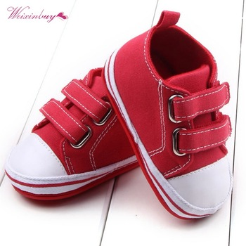 WEIXINBUY Canvas Baby Shoes Newborn Boys Girls First Walkers Infant Toddler Soft Bottom Anti-slip Prewalker Sneakers 0-12M 4