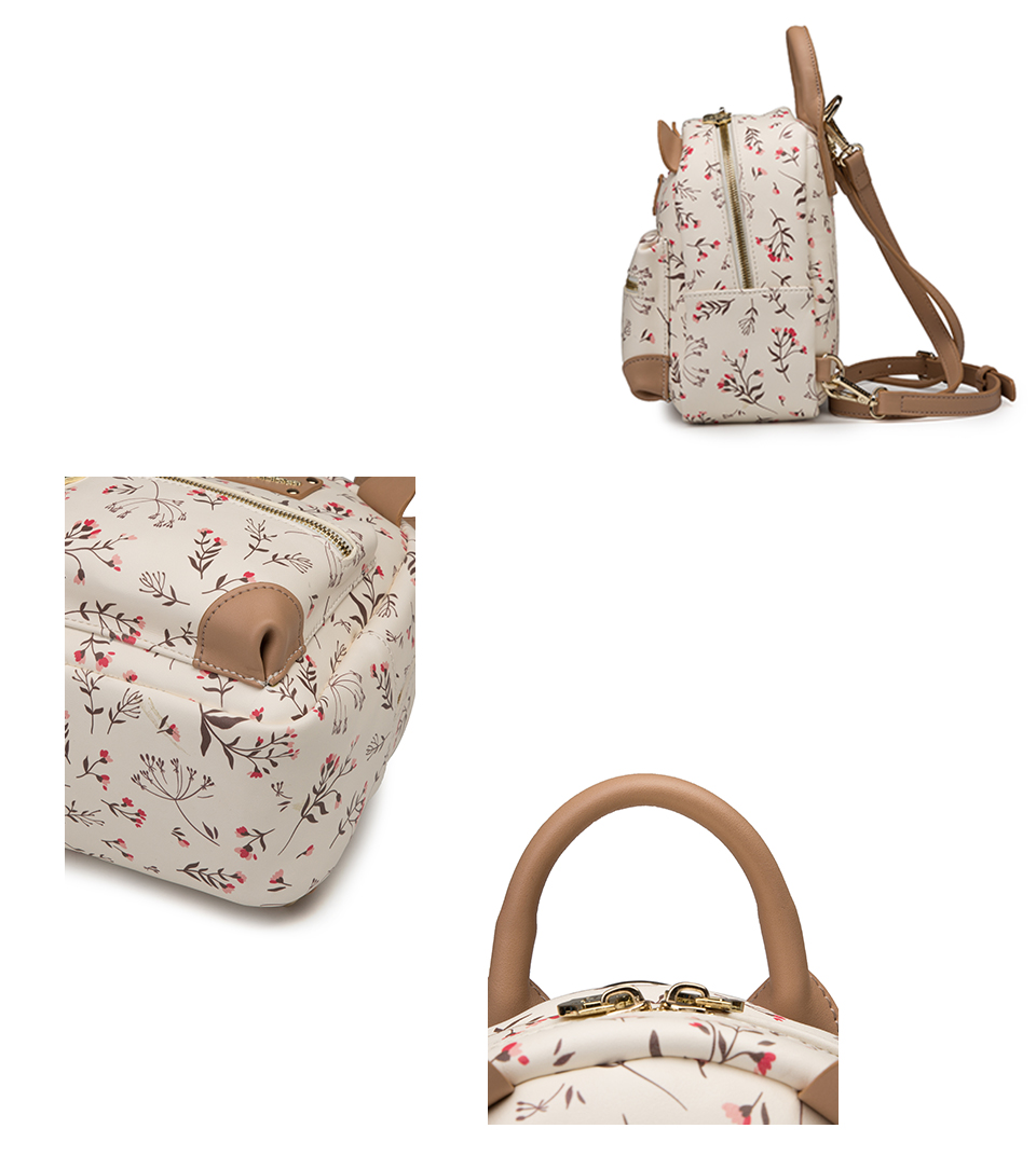 Fulanpers floral mochila para as mulheres 2018