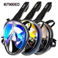 Enkeeo New Scuba GoPro Camera Snorkel Mask Underwater Anti Fog Full Face Snorkeling Diving Mask With
