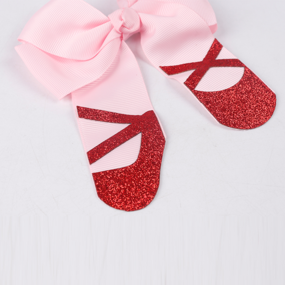 ab47e4fd68 US $1.77 19% OFF|4.5 Inch Fashion Hairclip Girls Boitique Cheer Bows With  Glitter Hairgrips Dance Party Hair Accessories Children Birthday Gift-in ...