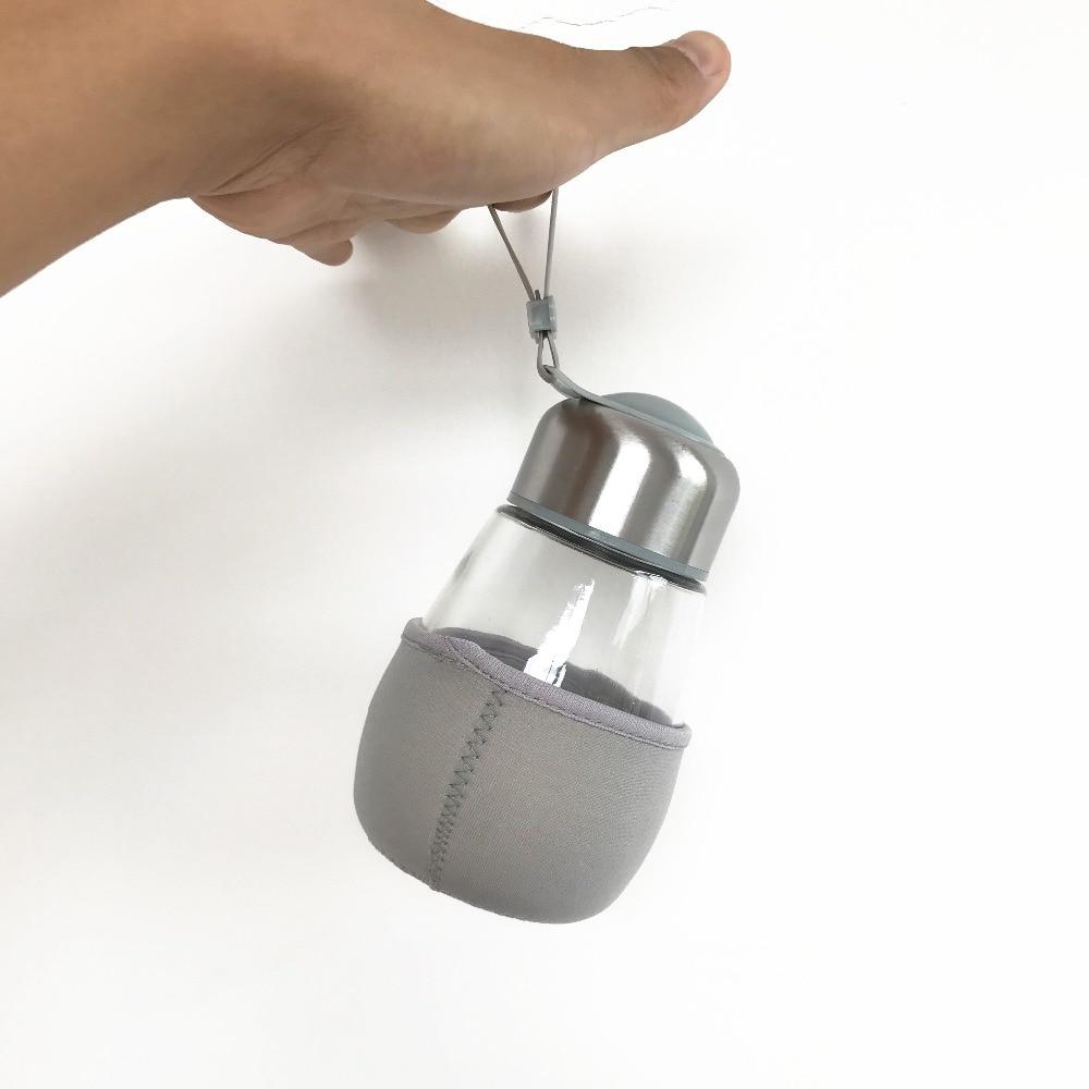 Стекло Бутылки для воды шейкер свой напиток бутылка с фильтром прозрачный dlass для Отдых Путешествия