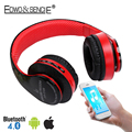EDWO 212B Stereo Bluetooth Wireless Headphone Witn Mic Noise Cancelling FM Radio TF Card Headset Earbuds For iPhone Samsung PC