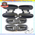Outside Inside Door Handles Set  69230-12160 69230-12140  For Toyota Corolla Prizm 1993 1994 1995 1996 1997 (DHTO215PBK212Q8)