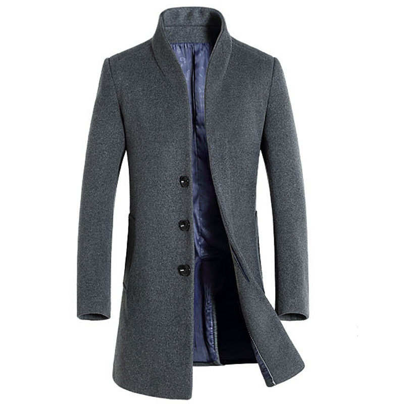 Thick Wool Coat Men 2017 Winter Brand Wool Blends Cashmere Coat ...