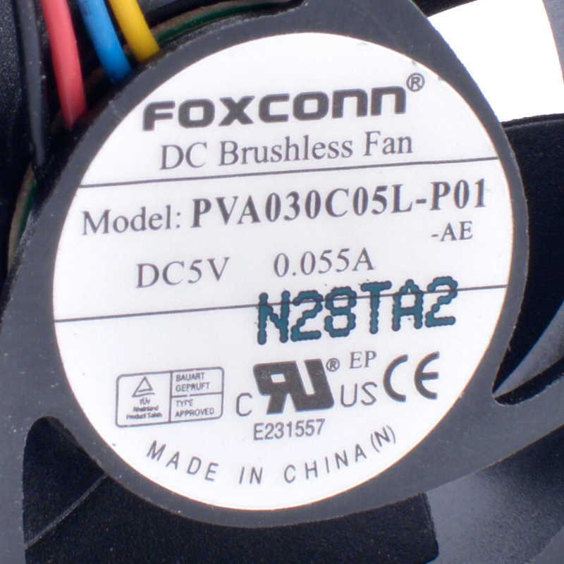 PVA030C05L-P01 3010 3cm 30mm Fan 5V 0.055A 4-Wire 4Pin Laptop Ultra Quiet Hydraulic Fan