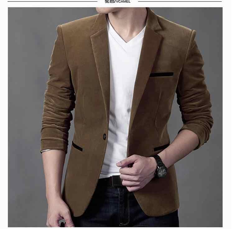 New arrival brand clothing spring suit blazer men fashion slim fit  masculine blazer casual solid jpg e93cb20d4