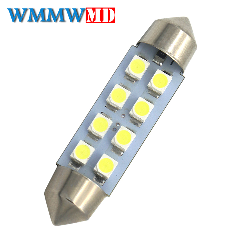 1pcs White Canbus Festoon LED lights 36mm C5W C10W DE3175 6 SMD 5630 5730 No Error Free Auto Car Interior Map Lamp Reading Dome 2pcs festoon led 36mm 39mm 41mm canbus auto led lamp 12v festoon dome light led car dome reading lights c5w led canbus 36mm 39mm