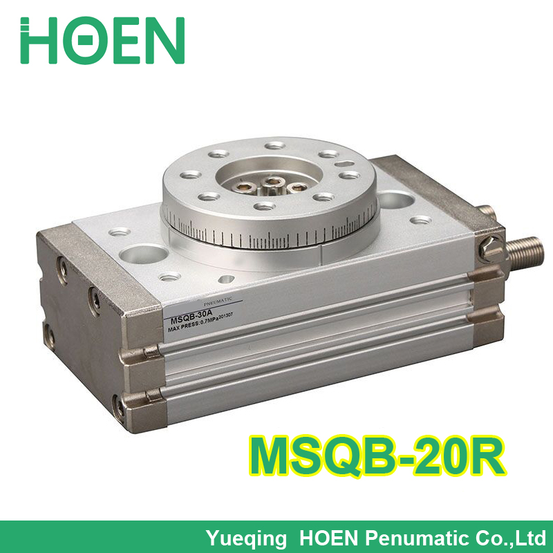 Best quality double acting air table actuator pneumatic rotary cylinder smc type MSQB 20R with internal shock absorber MSQB-20R big quality smc type msqb 30r double acting air table rotary pneumatic cylinder with internal shock absorber