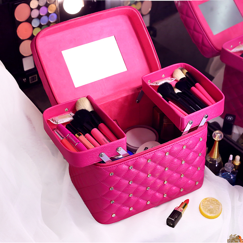 Professional portable Women Makeup bag multi layer Travel Cosmetic Bag large capacity Organizer Case Necessaries Make Up Box
