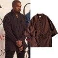 2017 hip hop streetwear swag monopatín Sarga de Algodón Kimono Japonés chaqueta de abrigo chaqueta de Punto Fresco de hip hop